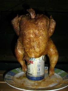 Beer-Can-Chicken (Hähnchen auf Bierdose)