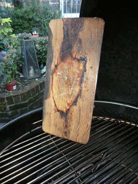 Smoking Board von Oben nach Gebrauch