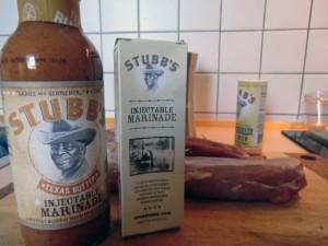 Stubb's die Texas Butter Marinade samt Injektionsspritze