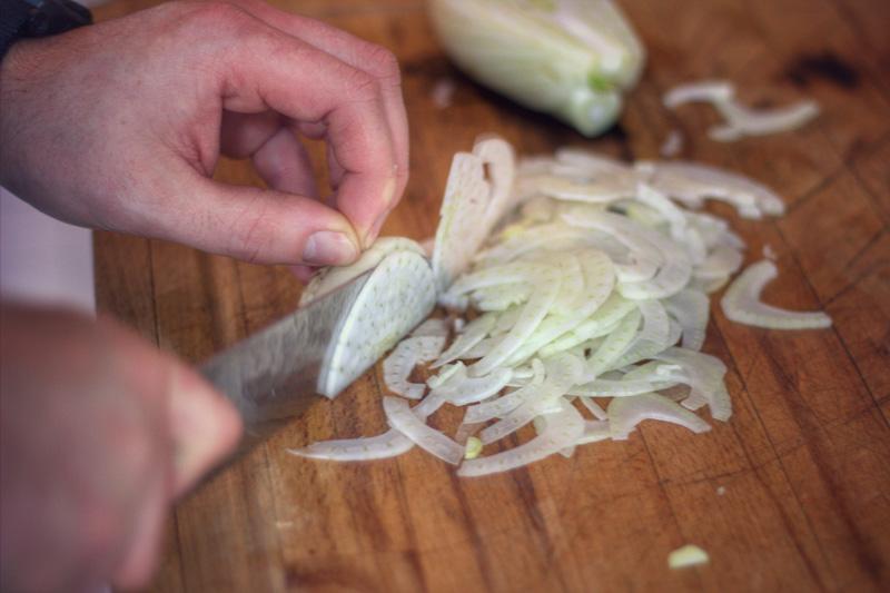 Asiatischer Fenchel-Orangen-Salat mit Entenbrust