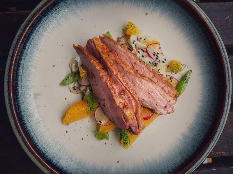 Fenchel-Orangen-Salat mit Entenbrust