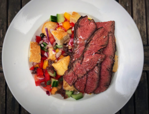 Flat Iron Steak mit Brotsalat