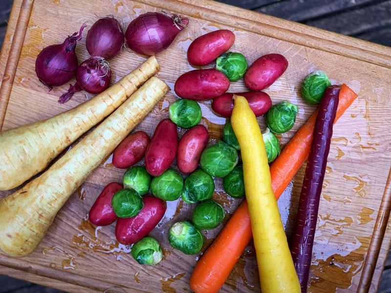 Rollbraten mit Schmorgemüse